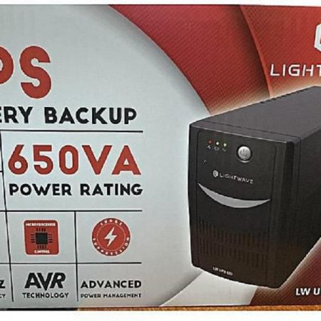 Lightwave Back-Up Uninterrupted Power Supply (UPS) - 650VA DESCRIPTION Key Features Input Nominal Input Voltage – 230V Input Frequency – 45 – 65 Hz Input Connections – IEC-320 C14 Cord Length – 1.16 meters Input voltage range for main operations – 140 – 300V Maximum Input Current – 7A Input Breaker Capacity – 7.0 A Output Output Power Capacity – 390 Watts / 650 VA Max Configurable Power – 390 Watts / 0 VA Nominal Output Voltage – 230V Efficiency at Full Load – 97.0% Output Frequency (sync to mains) – 50/60Hz +/- 3 Hz Topology – Line Interactive Waveform Type – Stepped approximation to a sinewave Output Connections – (4) IEC 320 C13 (Battery Backup) PRICE KSH 4000/= CALL 0728394362. https://www.instagram.com/intechcomputer/ https://www.facebook.com/laptopnairobi/ https://www.linkedin.com/feed/ https://twitter.com/intechshop https://www.youtube.com/channel/UCVlZqRYP1sefH2vizkFuC9Q https://intechcomputershop.co.ke/