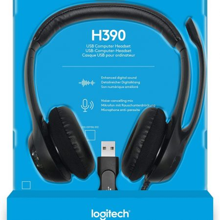 Logitech USB Headset H390 with Noise Cancelling Mic About this item Padded headband and ear pads. Frequency response (Microphone): 100 hertz - 10 kilohertz Rotating, noise canceling microphone. Sensitivity (headphone) 94 dBV/Pa +/ 3 dB. Sensitivity (microphone) 17 dBV/Pa +/ 4 dB Convenient inline volume and mute controls Advanced digital USB, connections: USB compatible (1.1 and 2.0) Compatible with Windows Vista, Windows 7, Windows 8, Windows 10 or later and Mac OS X(10.2.8 or later) PRICE KSH 5,500/= CALL 0728394362 https://www.instagram.com/intechcomputer/ https://www.facebook.com/laptopnairobi/ https://www.linkedin.com/feed/ https://twitter.com/intechshop https://www.youtube.com/channel/UCVlZqRYP1sefH2vizkFuC9Q https://intechcomputershop.co.ke/