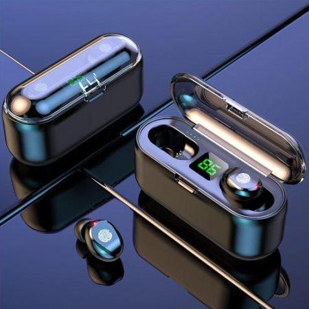 Fire Wireless Bluetooth Earphones (Headphones/Earbuds) 2000mAh Most Powerfull Battery With Powerbank Case